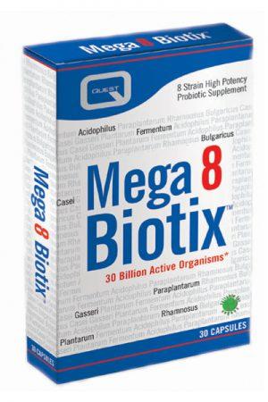 QUEST – MEGA 8 BIOTIX 30 VEGAN CAPS